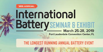NDC to Exhibit at the International Battery Seminar 2019